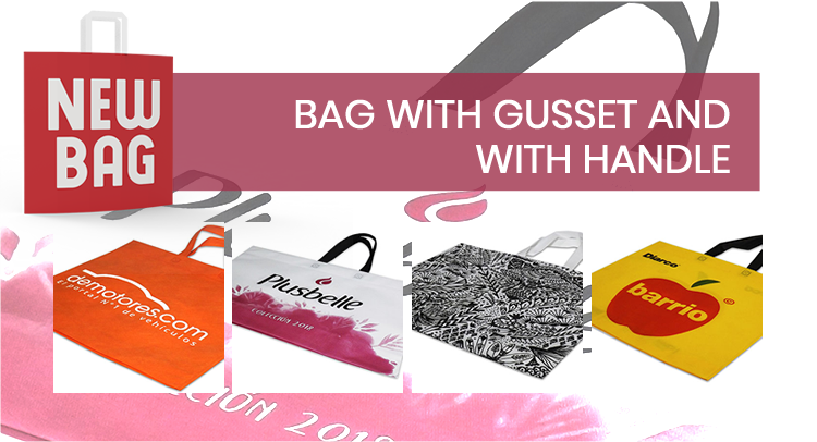 BAG WITH GUSSET AND WITH HANDLE